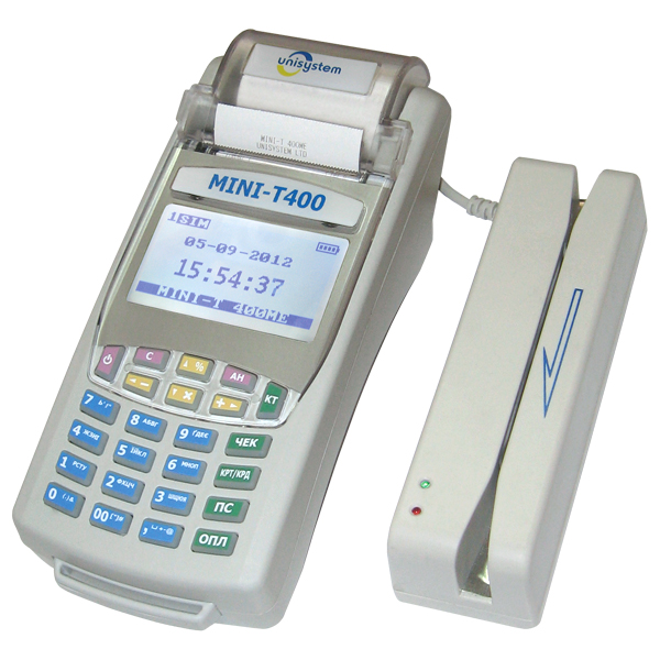 Кассовый аппарат MINI-T 400МЕ со считывателем магнитных карт